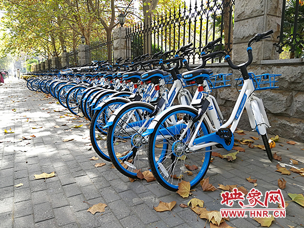 After Zhengzhou banned shared bicycles, there were many 'small blue cars' on the streets of Zhengzhou overnight.